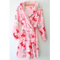 Тёплый халат для девочки 883-910