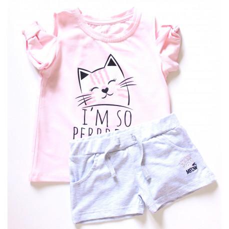 Комплект (шорты и футболка) для девочки 895-416
