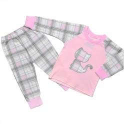 """Трикотажна піжама в клітинку для дівчаток """"Kitten"""""""