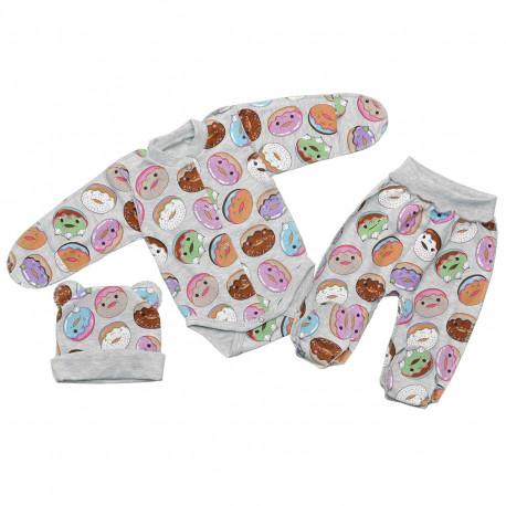 """Комплект для новонароджених (три предмети) """"Пончик"""""""
