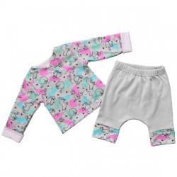 Трикотажный костюм для новорожденных