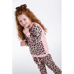 Леопардовый комплект для девочки (кофта и штаны) 71570