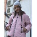 Демисезонная розовая куртка