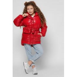Лакова куртка для дівчинки