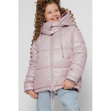 Блестящая зимняя куртка для девочки