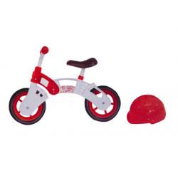 """Беговел """"Star Bike"""" з шоломом, 10 """"(біло-червоний)"""