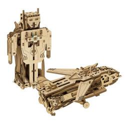 """Дерев'яний конструктор """"Трансформер: Робот-літак"""", 119 ел"""