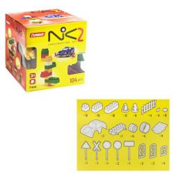 """Пластиковый конструктор """"NIK-2"""", 104 детали"""