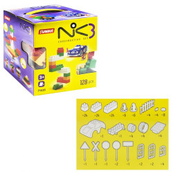"""Пластиковый конструктор """"NIK-3"""", 128 деталей"""