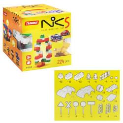 """Пластиковий конструктор """"NIK-5"""", 224 деталі"""