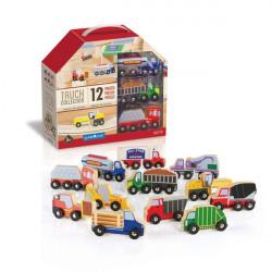 Набір вантажівок Block Play до Дорожньої системи, 12 шт.