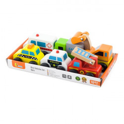 Набір іграшкових машинок Спецтранспорт, 6 шт.