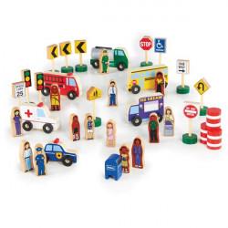 Набор фигурок и машин Block Play к Дорожной системе, 36 деталей