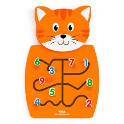 Бизиборд Котик с цифрами