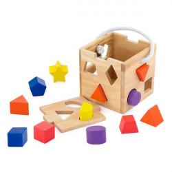 Деревянный сортер Кубик с фигурами