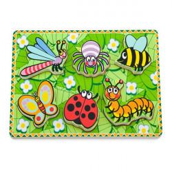 Дерев'яна рамка-вкладиш Viga Toys Комахи (56437)