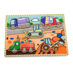 Деревянная рамка-вкладыш Viga Toys Спецмашины (56439)