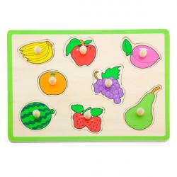 Деревянная рамка-вкладыш Цветные фрукты