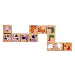 Деревянное домино Viga Toys Зверята (59622)