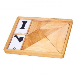 Игра-головоломка Деревянный танграм неокрашенный, 7 эл.