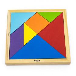 Игра-головоломка Цветной деревянный танграм, 7 эл.