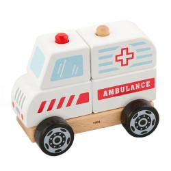 Деревянная пирамидка Машина скорой помощи