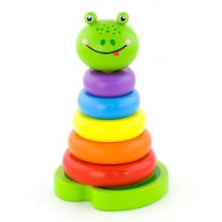 Деревянная пирамидка Лягушка