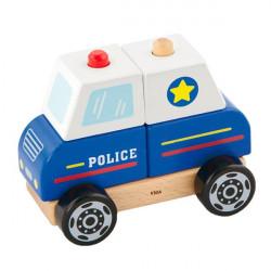 Деревянная пирамидка Полицейская машинка