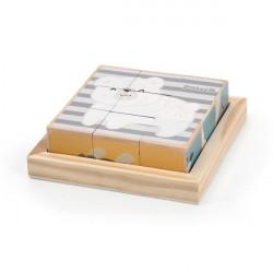 Дерев'яні кубики-пазл PolarB Звірята