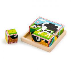 Деревянные кубики-пазл Ферма