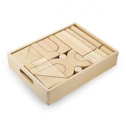 Деревянные строительные кубики неокрашенные, 48 шт.