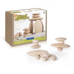 Набір блоків Natural Play Дерев'яні камінчики