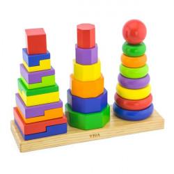 Набір дерев'яних пірамідок Три фігури