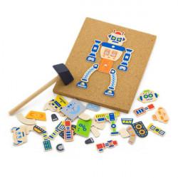 Набор для творчества Деревянная аппликация Робот
