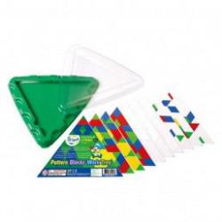 Геометрическая мозаика с карточками и треугольной основой, 10 эл.