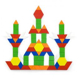 Деревянный игровой набор Цветная мозаика, 250 эл.
