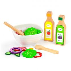 Іграшкові продукти Набір для салату з дерева, 36 ел.