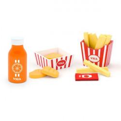 Игрушечные продукты Наггетсы с картошкой фри и соком