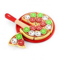 Игрушечные продукты Пицца из дерева