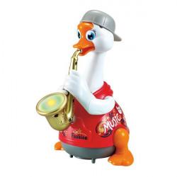 Іграшка музична Гусак-саксофоніст, синій
