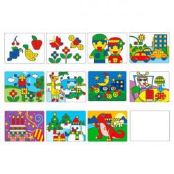 Комплект обучающих шаблонов для Большой мозаики 1192-1