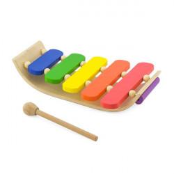 Музична іграшка Дерев'яний ксилофон, 5 тонів