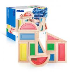 Набор стандартных блоков Block Play Большая радуга, 10 шт.