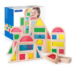 Набор стандартных блоков Block Play Большая радуга, 30 шт.