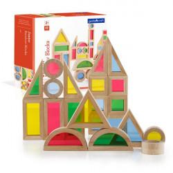 Набор уменьшенных блоков Block Play Маленькая радуга, 40 шт.