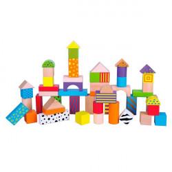 Деревянные кубики Узорчатые блоки 50 шт., 3 см