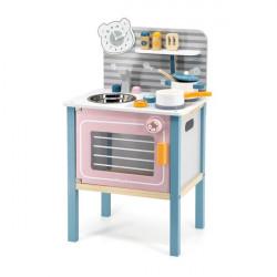 Детская кухня PolarB из дерева с посудой
