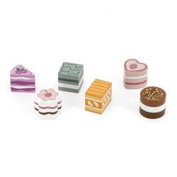 Іграшкові продукти PolarB Дерев'яні тістечка, 6 шт.