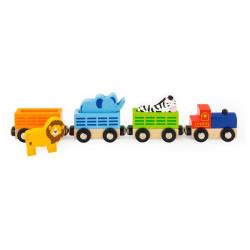 Набір для залізниці Поїзд-зоопарк