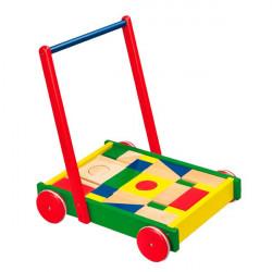 Детские ходунки-каталка Тележка с кубиками